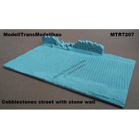【新製品】MTR7208 石畳の道路 w/破壊された壁