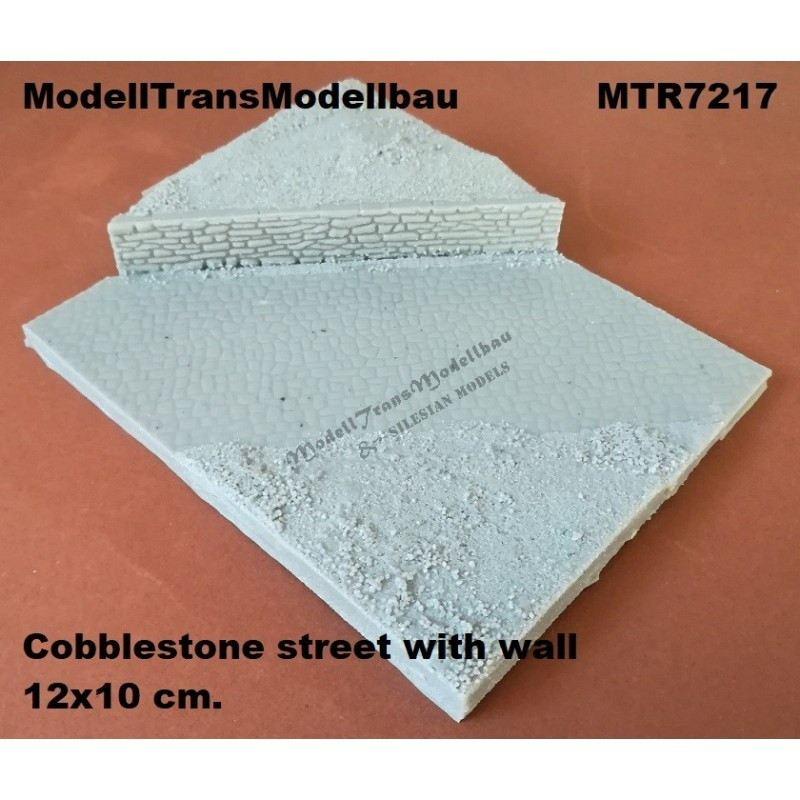 【新製品】MTR7217 石畳の道と塀