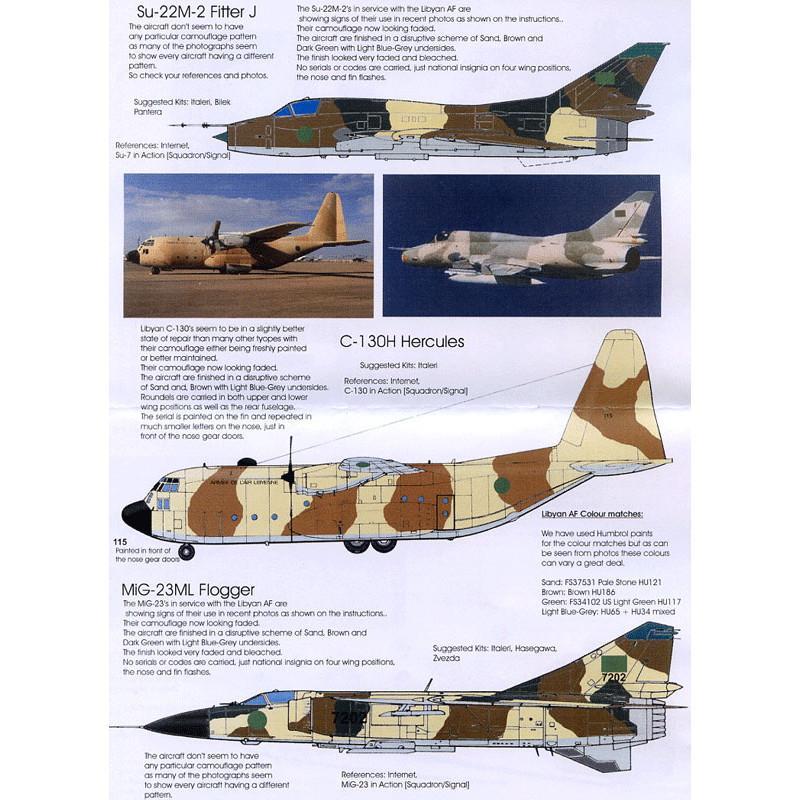 【再入荷】BMD72002 リビア空軍 Su-22M-2/MiG-23ML/MiG-25RBS/MiG-25PD/Tu-22B/CH-47C/C-130H/Mi-8T/Mi-25/ミラージュF1/ミラージュ5D