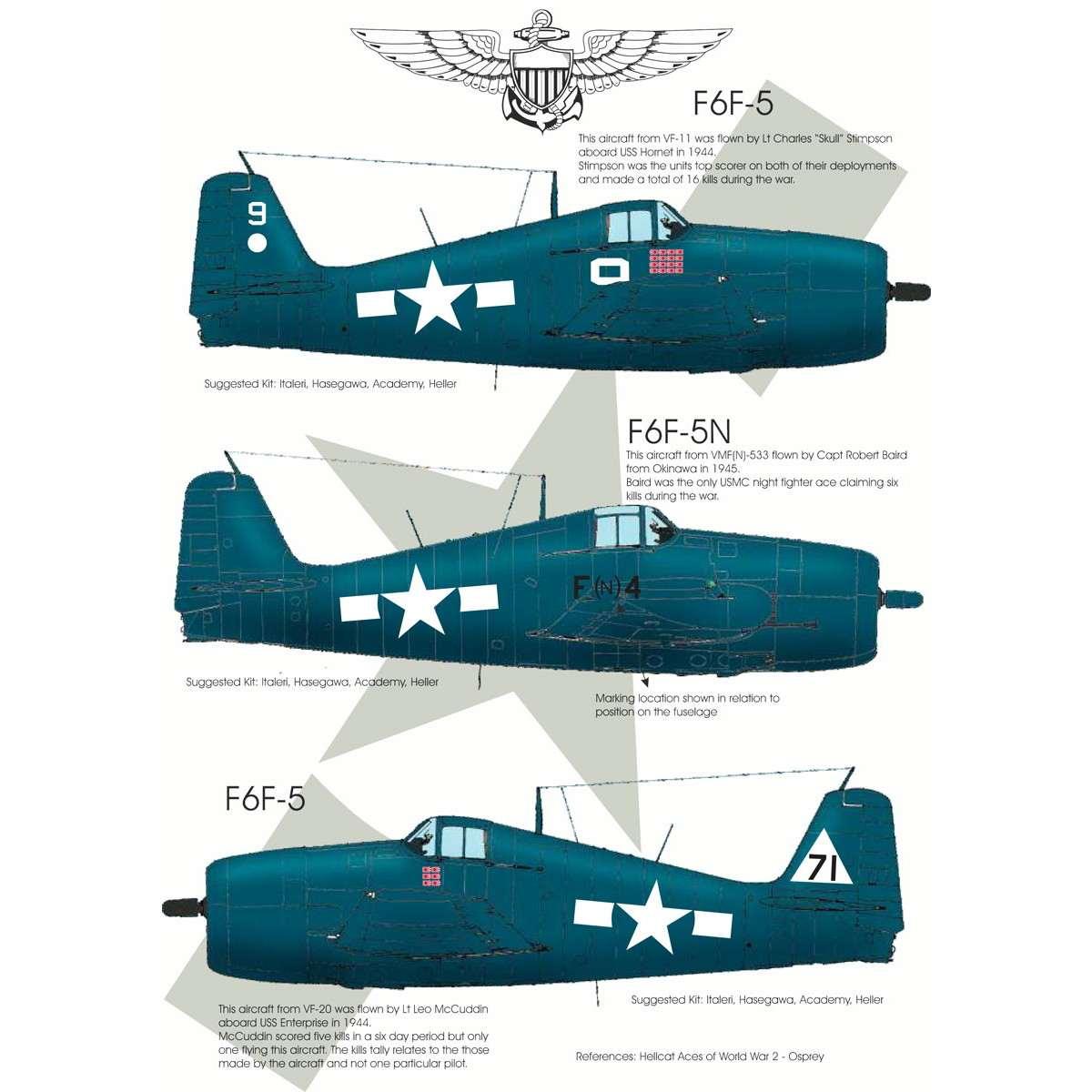 【再入荷】BMD72007 グラマン F6F ヘルキャット エース