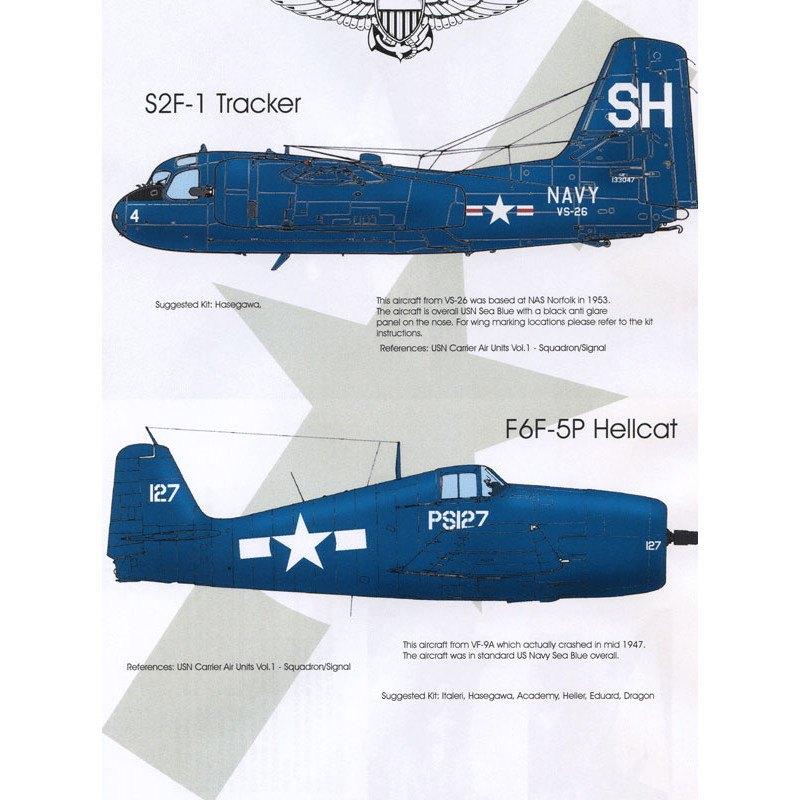 【再入荷】BMD72009 ネイビーブルース S2F トラッカー・F6F ヘルキャット