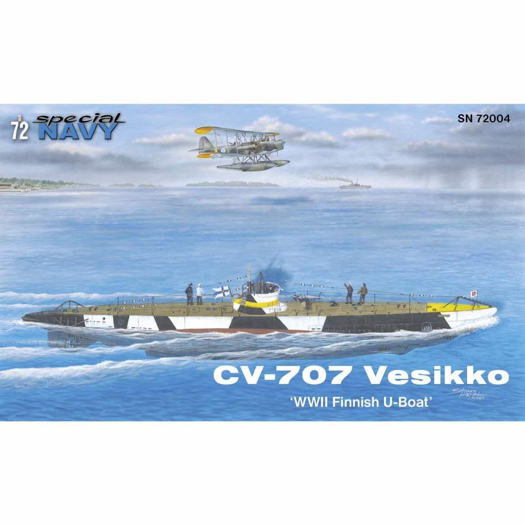 【新製品】SN72004 フィンランド海軍 CV-707 ヴェシッコ小型潜水艦