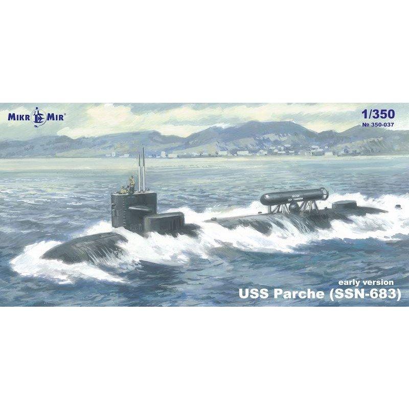 【新製品】350-037 SSN-683 USS パーチー 原子力潜水艦 (初期型)