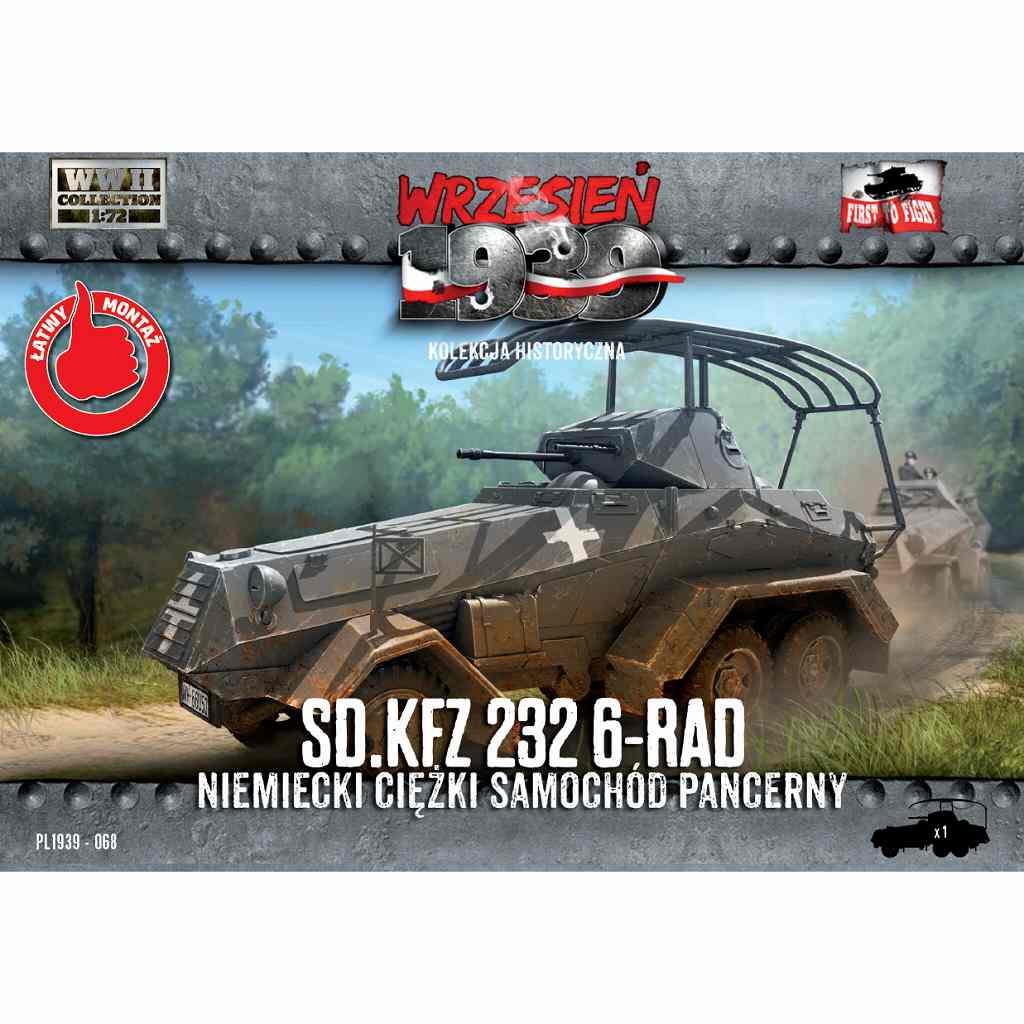 【新製品】72068 ドイツ Sd.Kfz.232 6輪装甲車