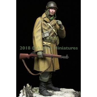 【新製品】16040 WWII 米 アメリカ陸軍歩兵 外套を羽織るGI 44-45年冬季