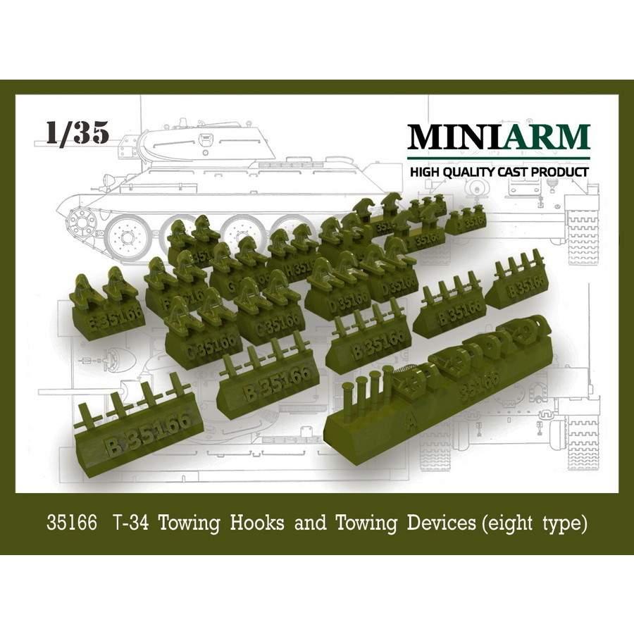 【新製品】B35166 WWII ロシア/ソビエト T-34用牽引フックと牽引装置 (8種類入り)