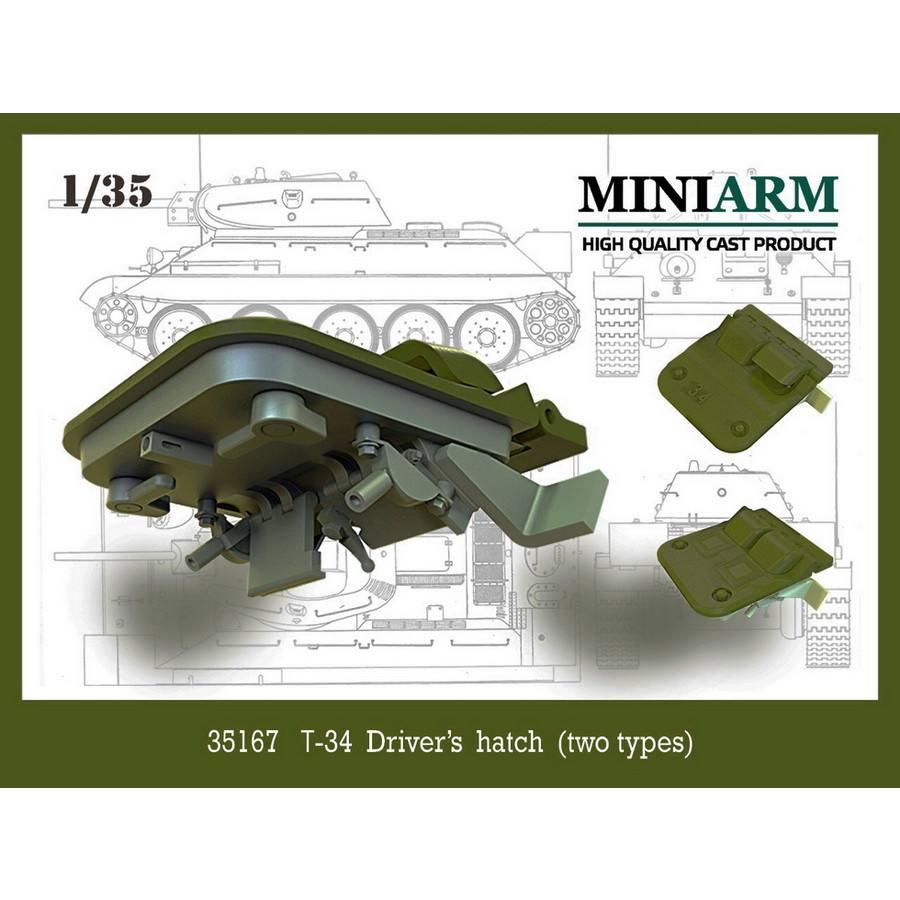 【新製品】B35167 WWII ロシア/ソビエト T-34ドライバーズハッチ(2種類)