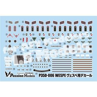 【新製品】35D-006 WWII ドイツ軍 ヴェスペ デカールセット