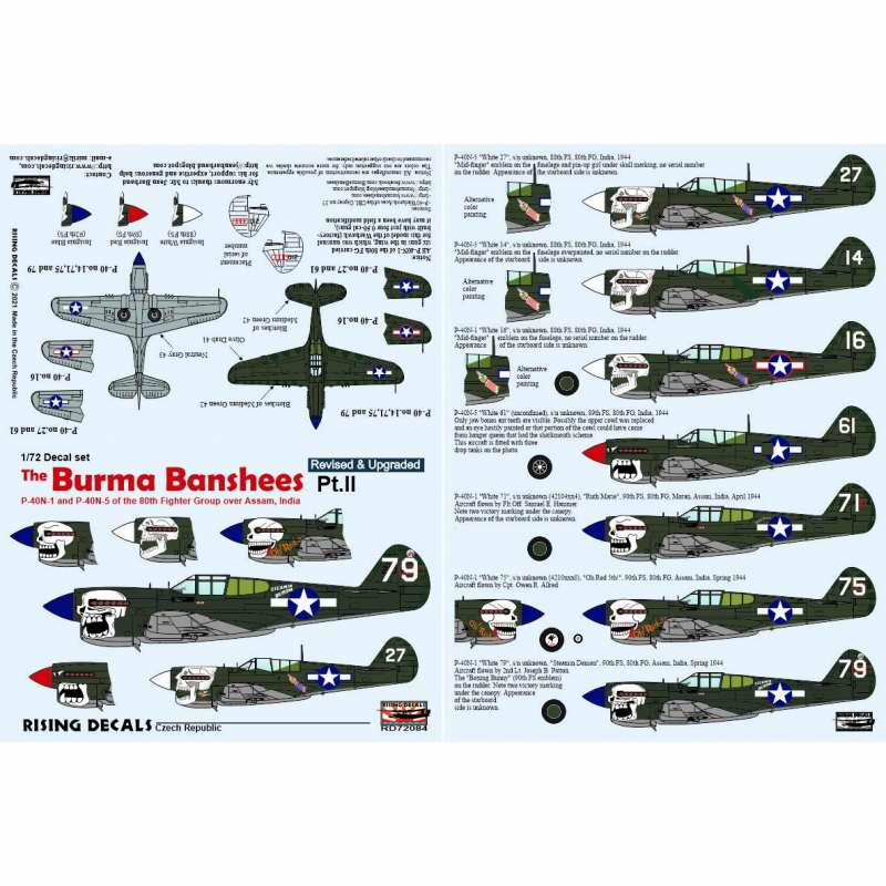 【新製品】RD72084 P-40N ビルマ・バンシーズ Part2