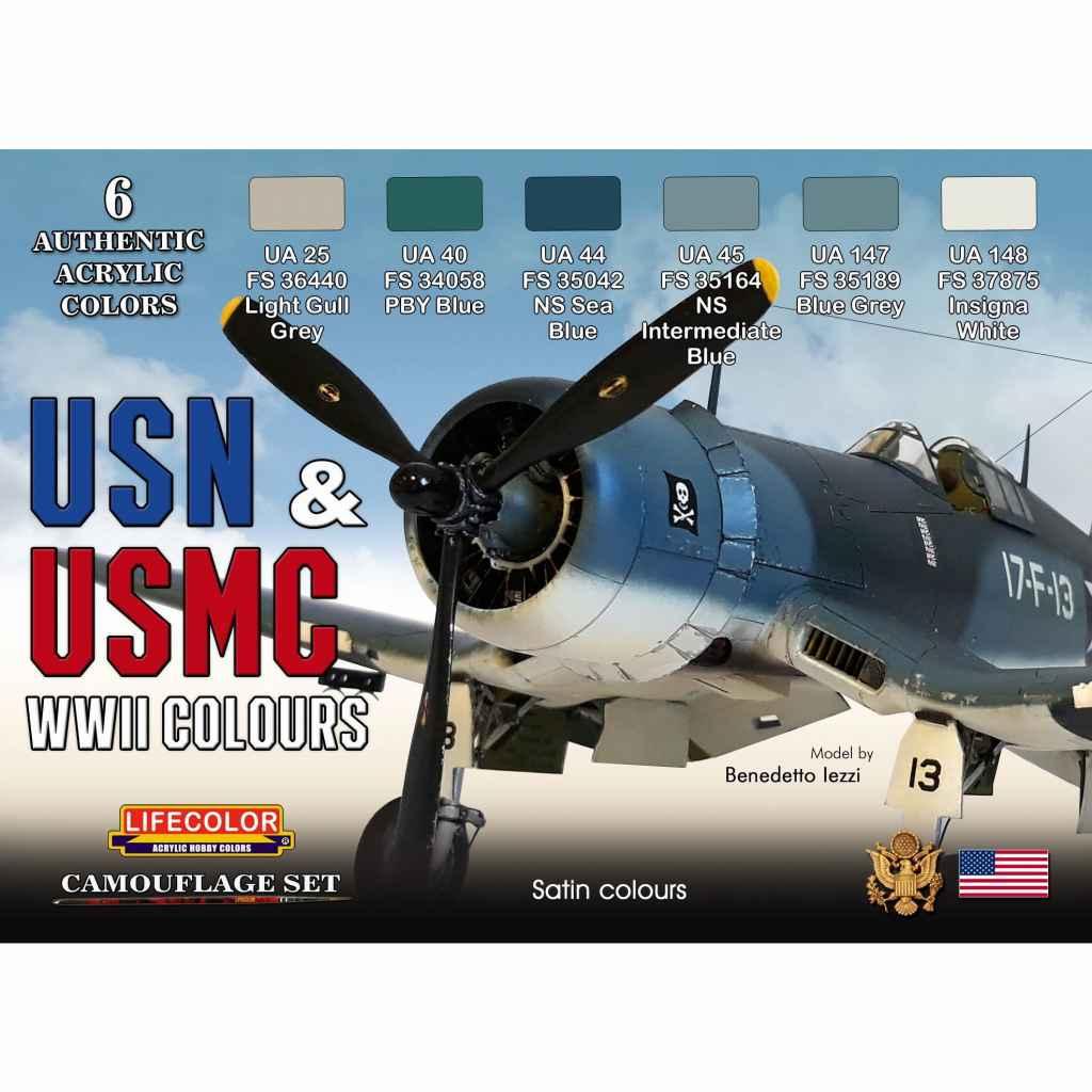【新製品】CS46)WWII アメリカ海軍/海兵隊航空機カラーセット