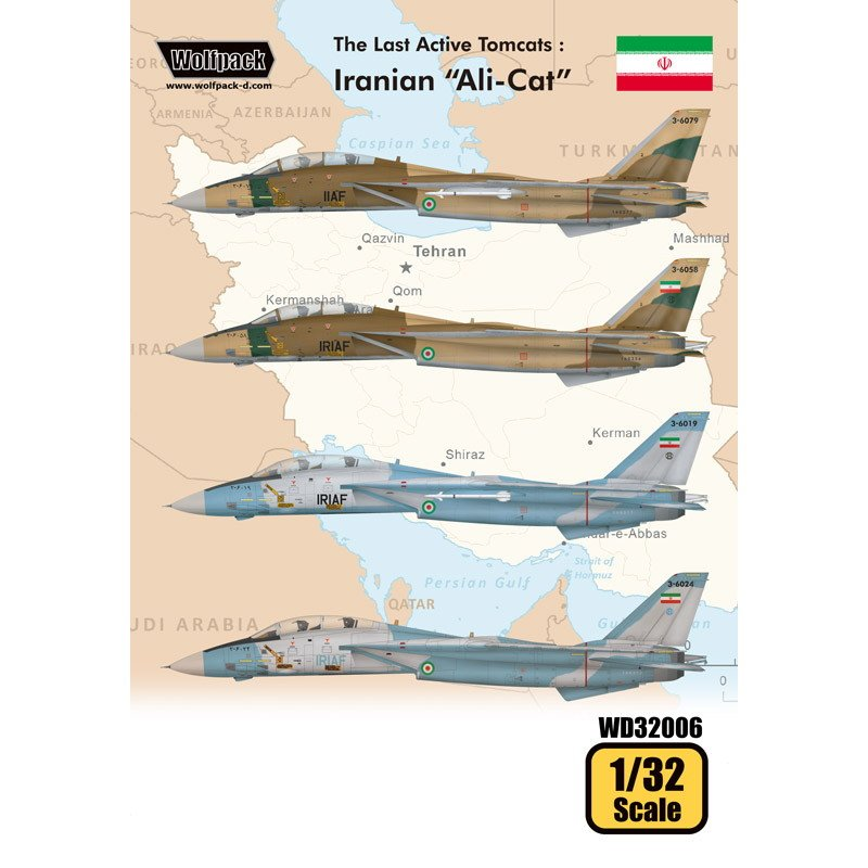 【新製品】WD32006 トムキャット最後の稼働機 イラン アリキャット デカール (F-14A)