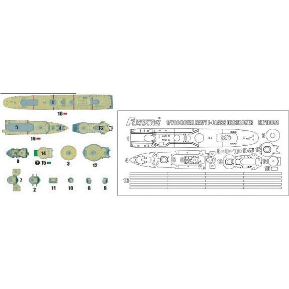 【新製品】710091)英海軍 J級駆逐艦 マスキングシート