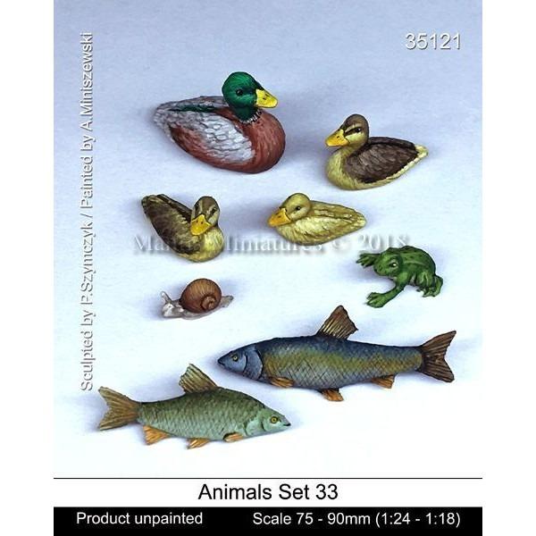 【新製品】35121 動物セット33 淡水の水辺に棲む 75-90mm(1/24 - 1/18)