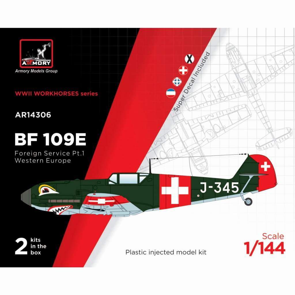 【新製品】14306 メッサーシュミット Bf109E「海外エースパイロット」 パート1