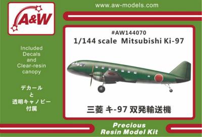 【新製品】AW144070)三菱 キ97 双発輸送機