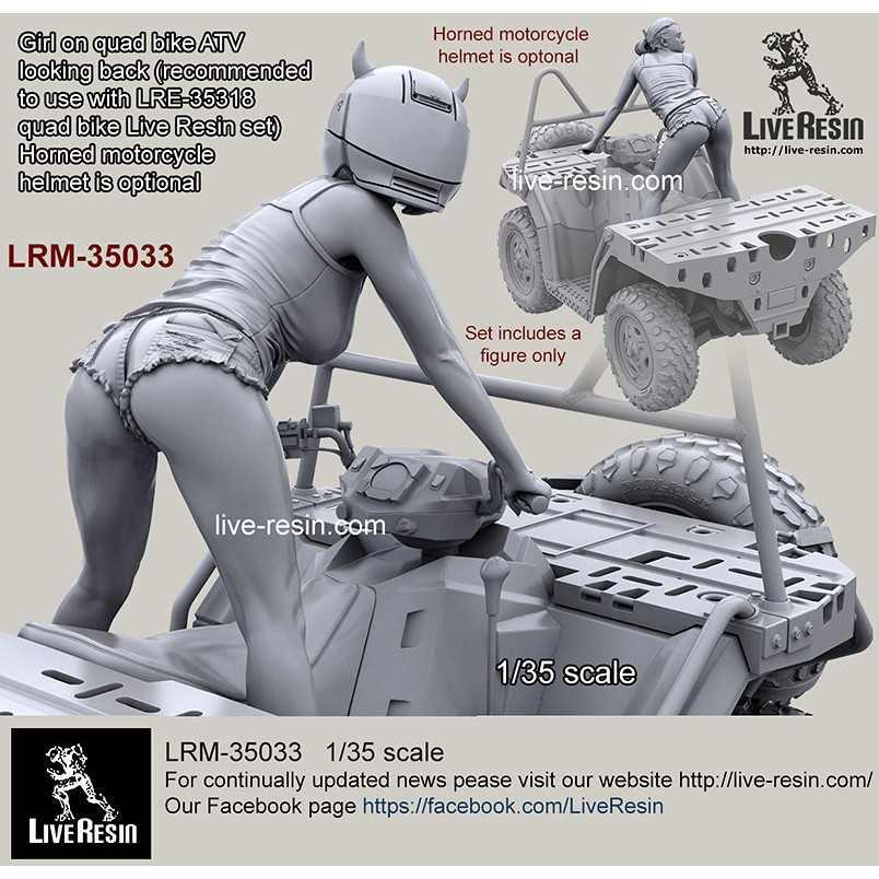 【新製品】LRM-35033 女性ライダー 後方確認 ATV四輪バイク搭乗 ヘルメット装着バージョン可