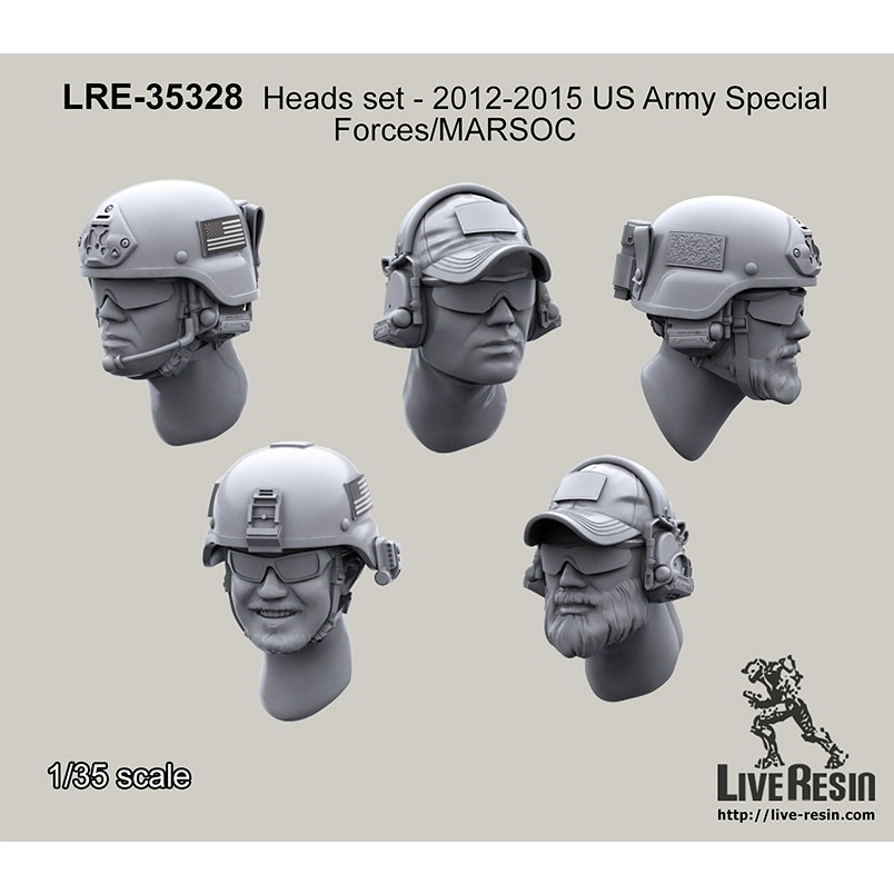【新製品】LRE-35328 Heads set - 2013 US Army Special Forces/MARSOC