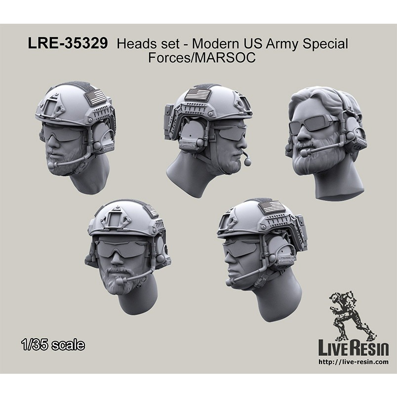 【新製品】LRE-35329 Heads set - Modern US Army Special Forces/MARSOC