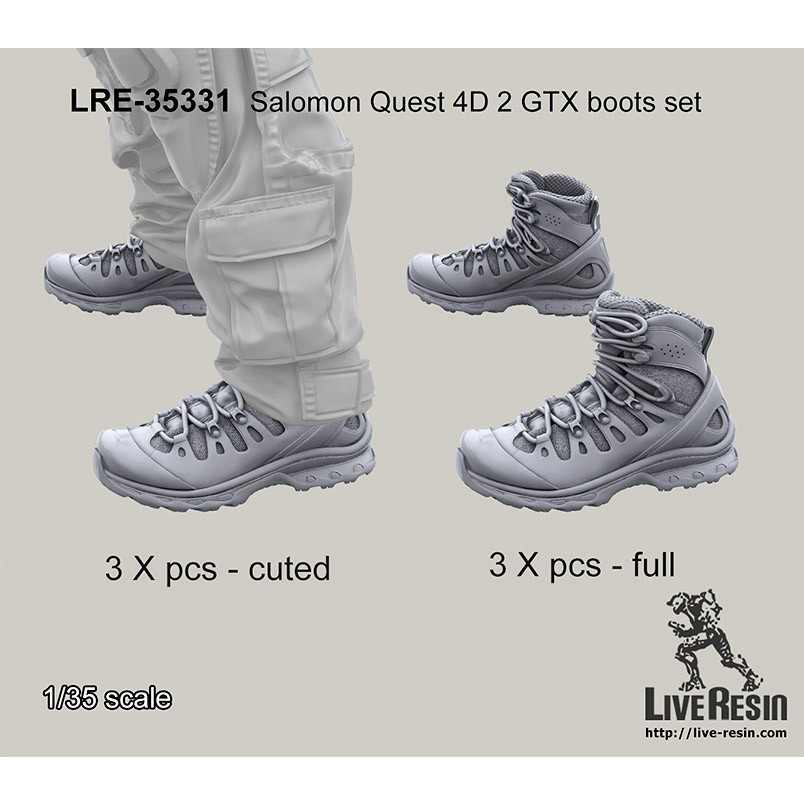 【新製品】LRE-35331 Salomon Quest 4D 2 GTX boots set