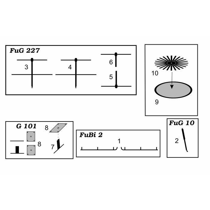 【新製品】BRL48100 ドイツ FuG10/FuG101/FuG227/FuBi2 アンテナ