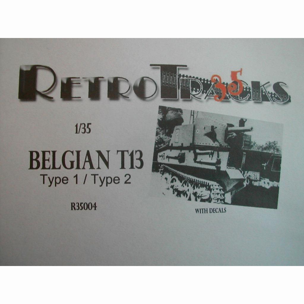 【新製品】R35004 WWII ベルギー T-13B1/B2 戦車駆逐車