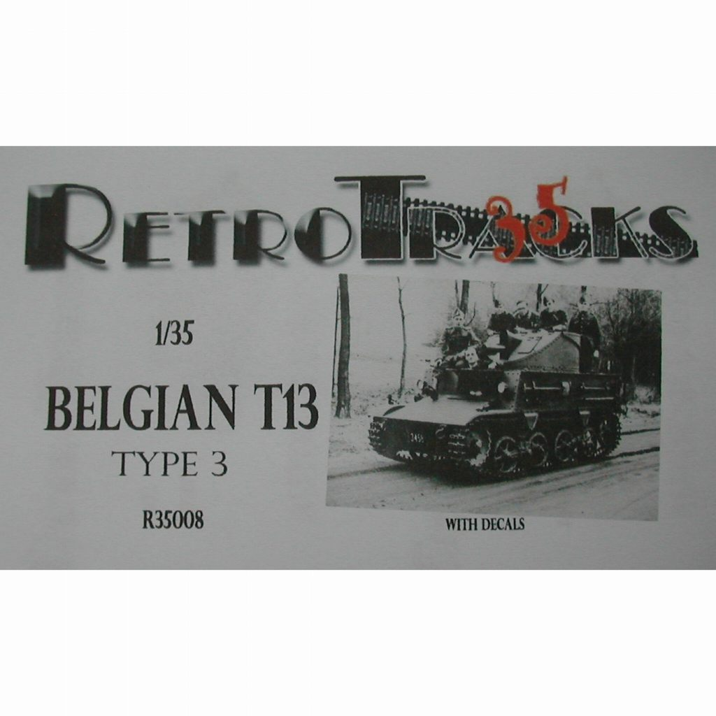 【新製品】R35008 WWII ベルギー T-13B3 戦車駆逐車