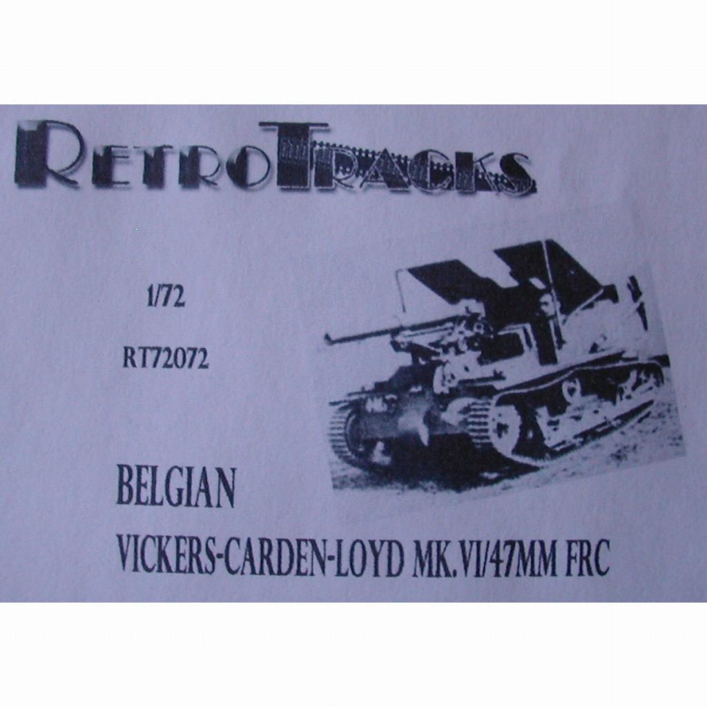 【新製品】R72072 WWII ベルギー ヴィッカース・カーデン・ロイド Mk.IV 47mm FRC