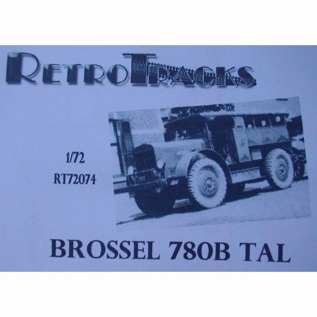 【新製品】R72074 WWII ベルギー ブロッセル780B TAL重牽引車