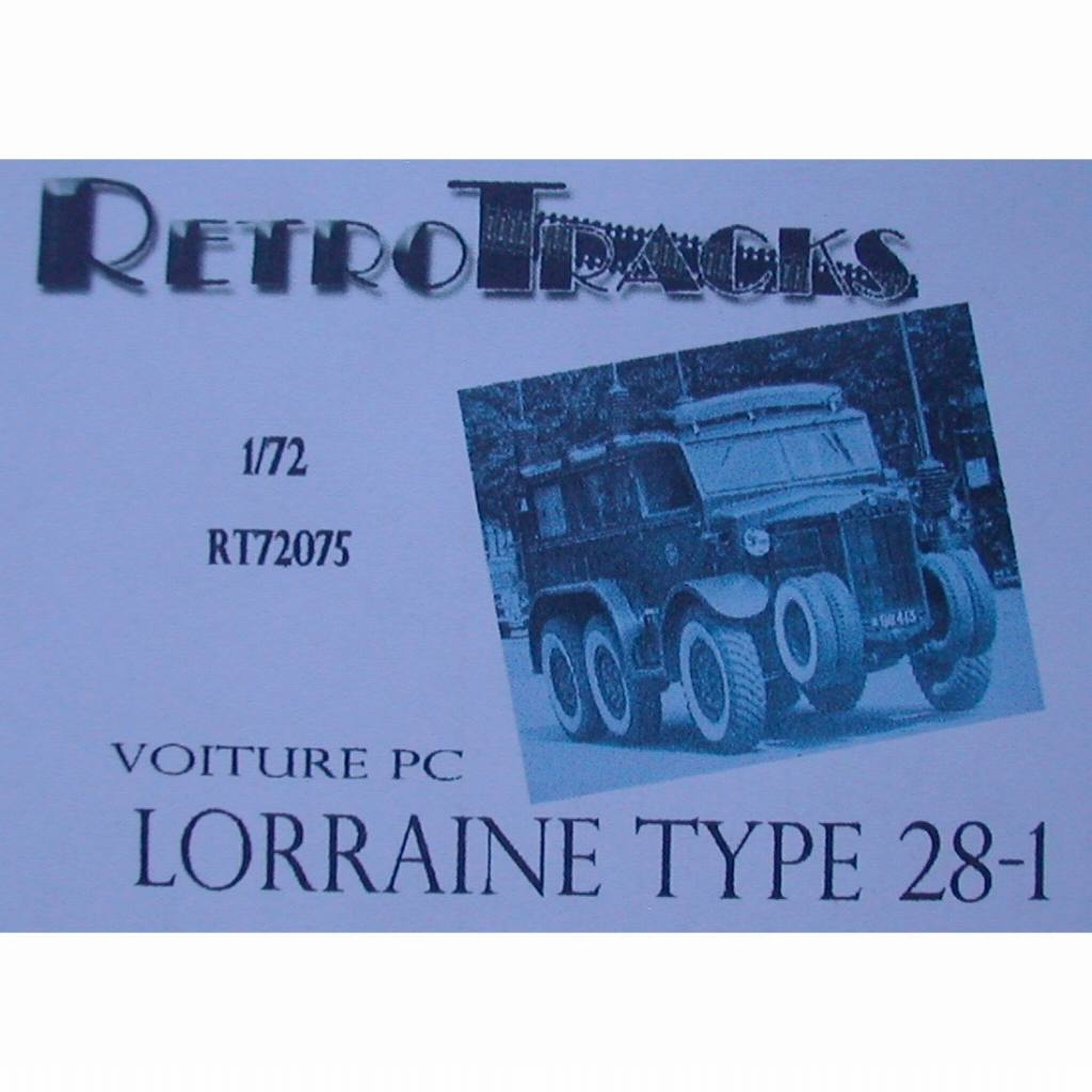 【新製品】R72075 WWII フランス ロレーヌ 28-1 コマンドカー
