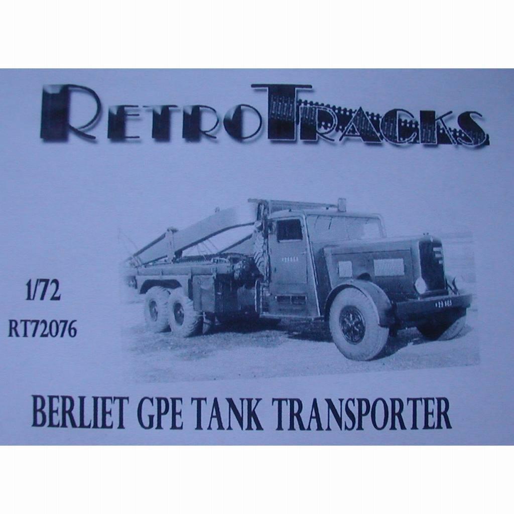【新製品】R72076 WWII フランス ベルリエ GPE4 戦車運搬車