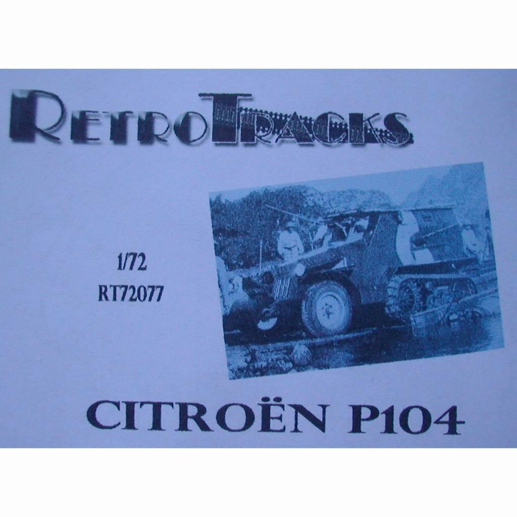 【新製品】R72077 WWII フランス シトロエン・ケグレス P104 半装軌車