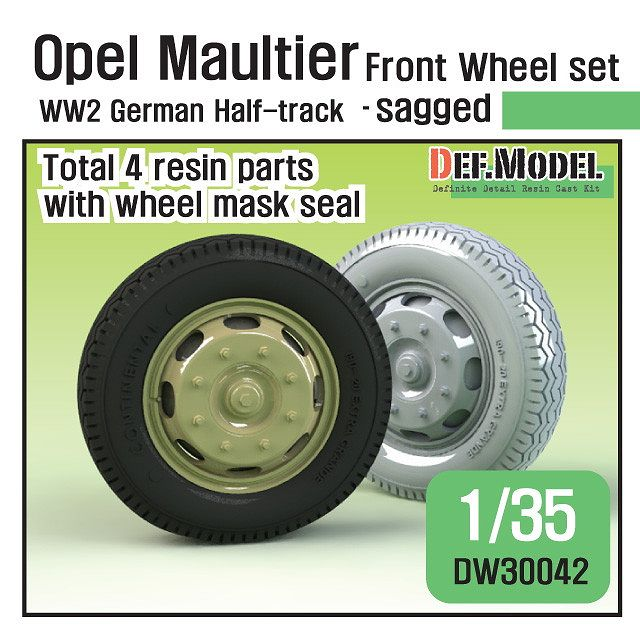 【新製品】DW30042 WWII ドイツ オペルマウルティア フロント自重変形タイヤセット