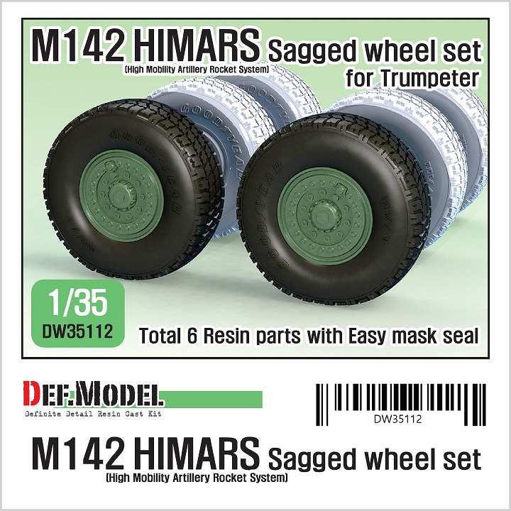 【新製品】DW35112 アメリカ M142 HIMARS 自重変形タイヤセット