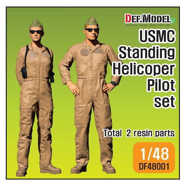 【新製品】DF48001 アメリカ海兵隊 ヘリコプターパイロット 立像 2体セット