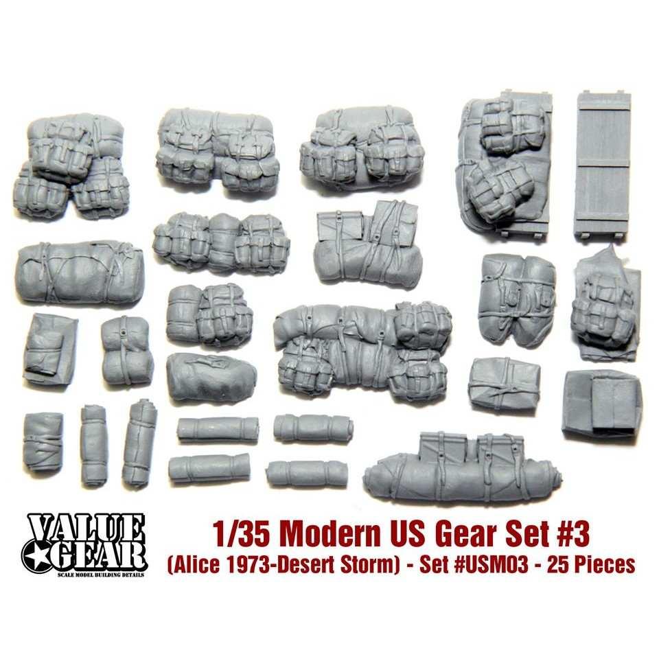 【新製品】USM03 現用アメリカ軍 装備品 #3 (アリスパック 1973-湾岸戦争)