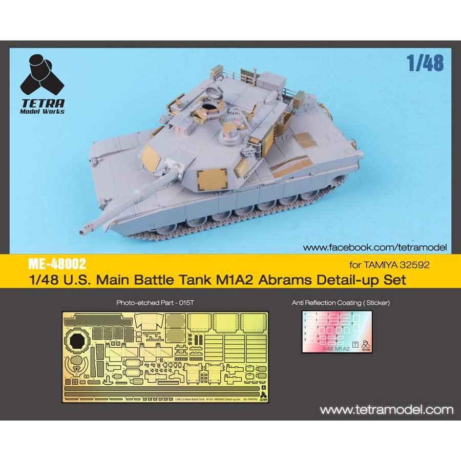 【新製品】ME-48002 米 M1A2 エイブラムス戦車用(TAMIYA用)