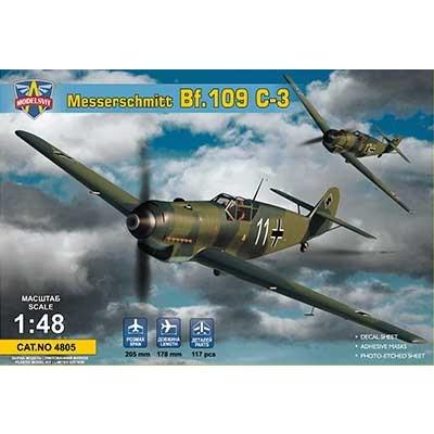 【新製品】4805 メッサーシュミット Bf109C-3 戦闘機 ルフトバッフェ