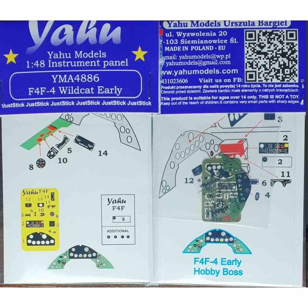 【新製品】YMA4886 グラマン F4F-4 ワイルドキャット 初期型 計器盤