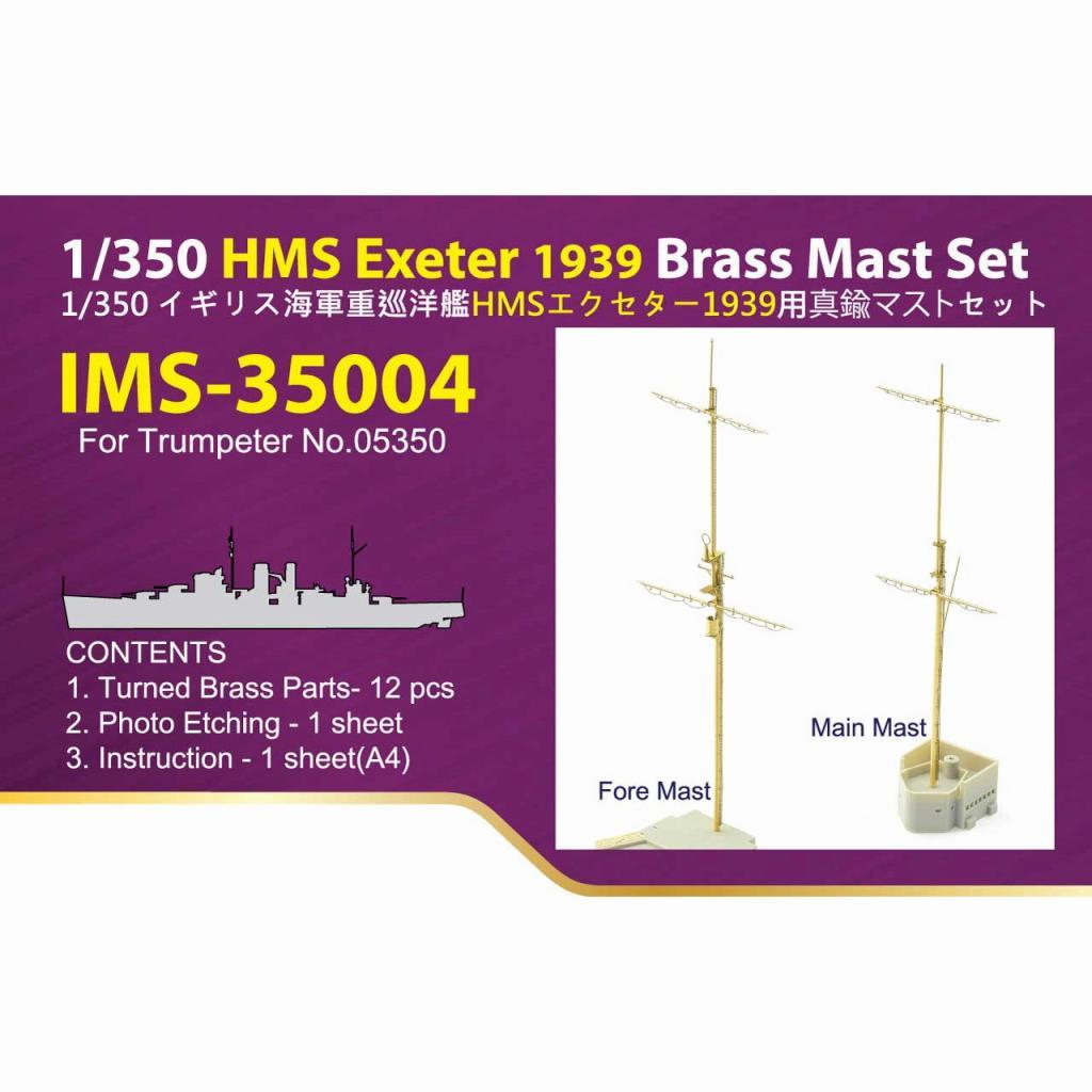 【新製品】IMS-35004 イギリス海軍 重巡 HMS エクセタ―1939用マストセット