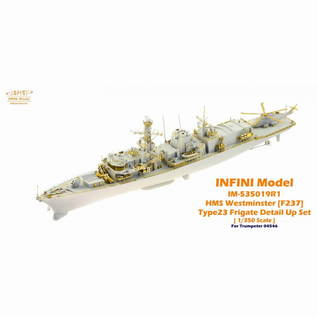 【新製品】IM-535019R1 イギリス海軍 23型フリゲート HMS ウエストミンスター F237用(TR社用)