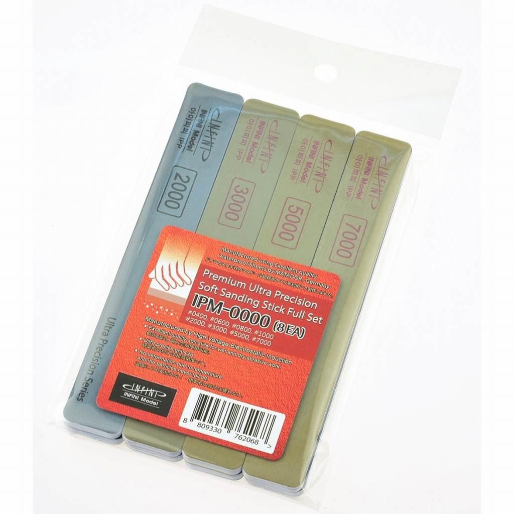 【新製品】IPM0000 ソフトスティックやすり フルセット 400番-7000番 8種各1本入り