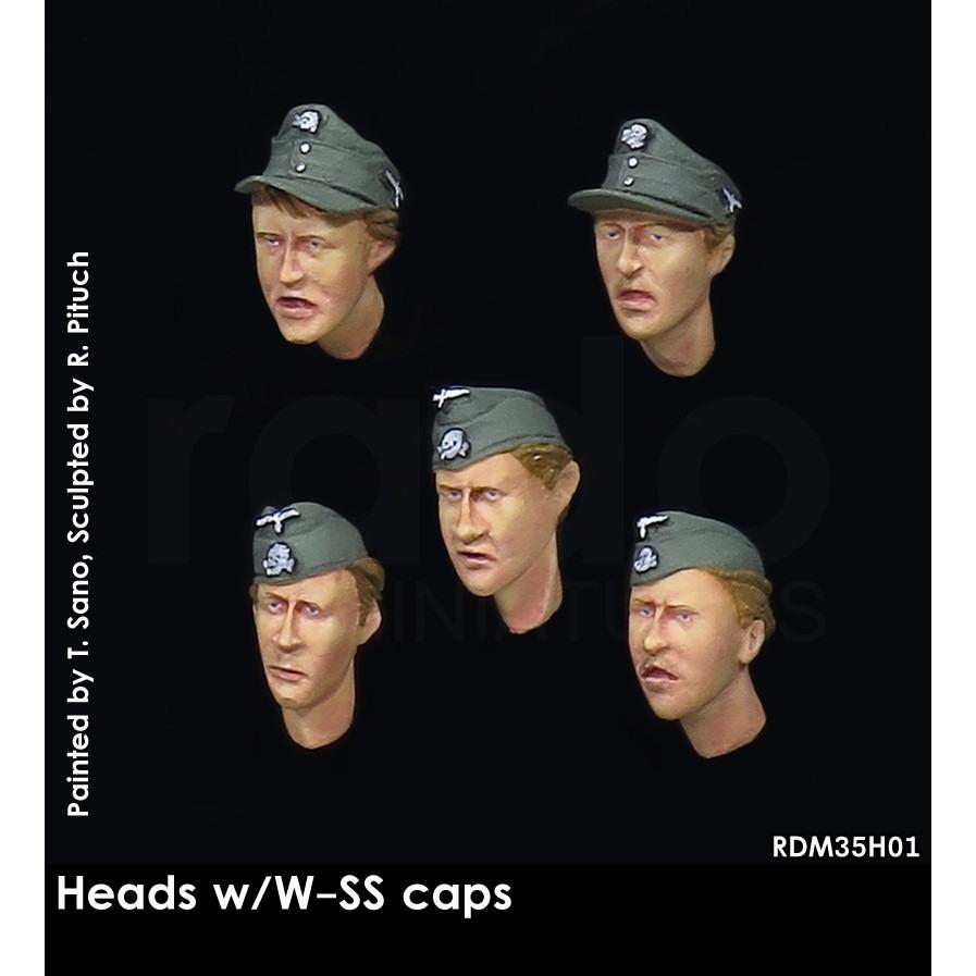 【新製品】RDM35H01 WWIIドイツ武装親衛隊 規格帽&略帽w/ヘッドセット(5個)