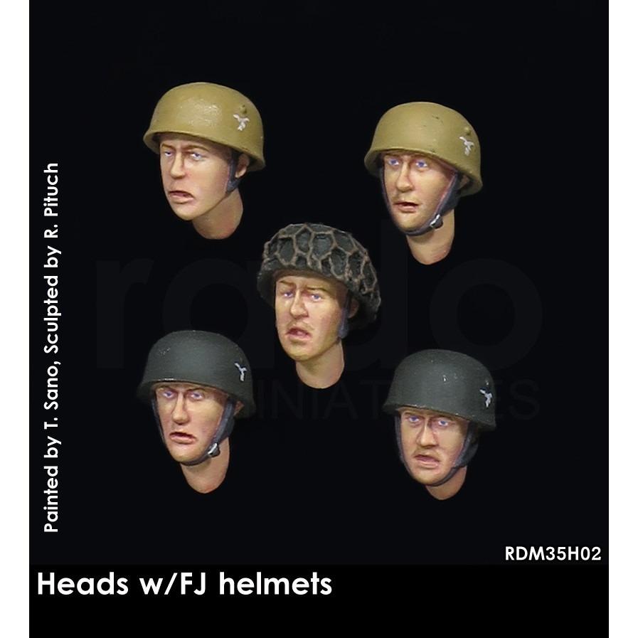 【新製品】RDM35H02 WWIIドイツ降下猟兵(FJ)用ヘルメットw/ヘッドセット (5個)