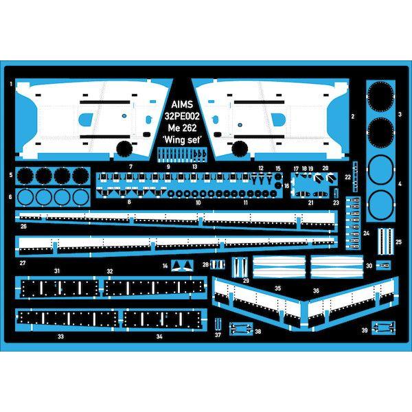 【新製品】32PE002 メッサーシュミット Me262 シュワルベ ウイングディテールアップセット