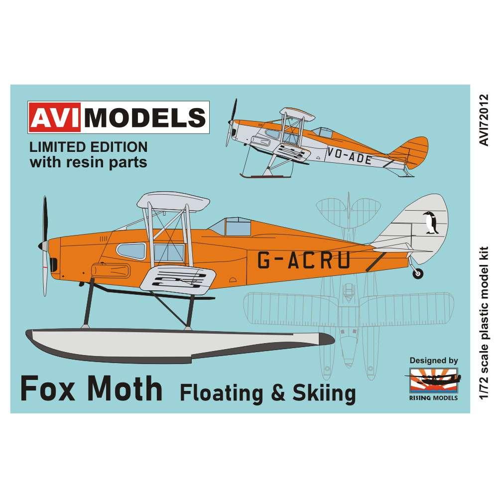【新製品】AVI72012 デ・ハビランド D.H.83 フォックス・モス「フロート&スキー」