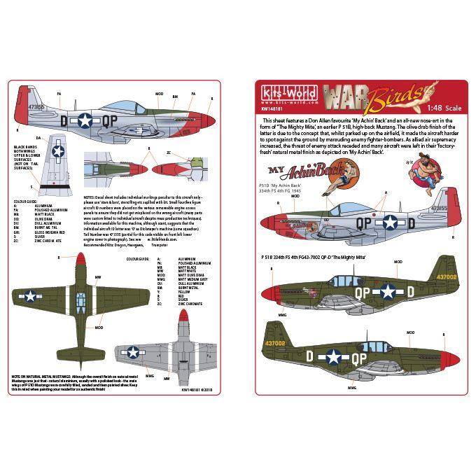 【新製品】KW148181)ノースアメリカン P-51B/D マスタング
