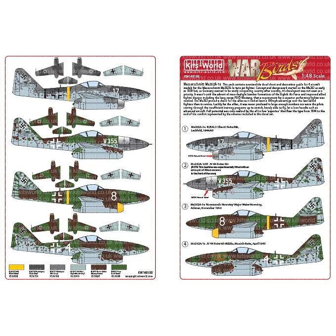 【新製品】KW148188 メッサーシュミット Me262A-1a