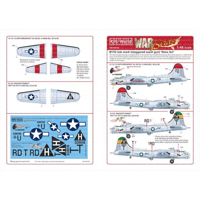 【新製品】KW148193 ボーイング B-17G フライングフォートレス