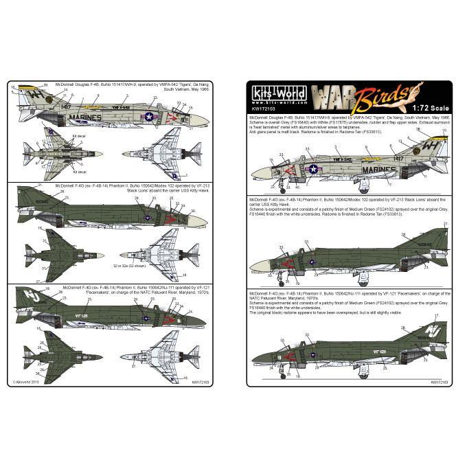 【新製品】KW172103 マクドネル・ダグラス F-4B(F-4G) ファントムII