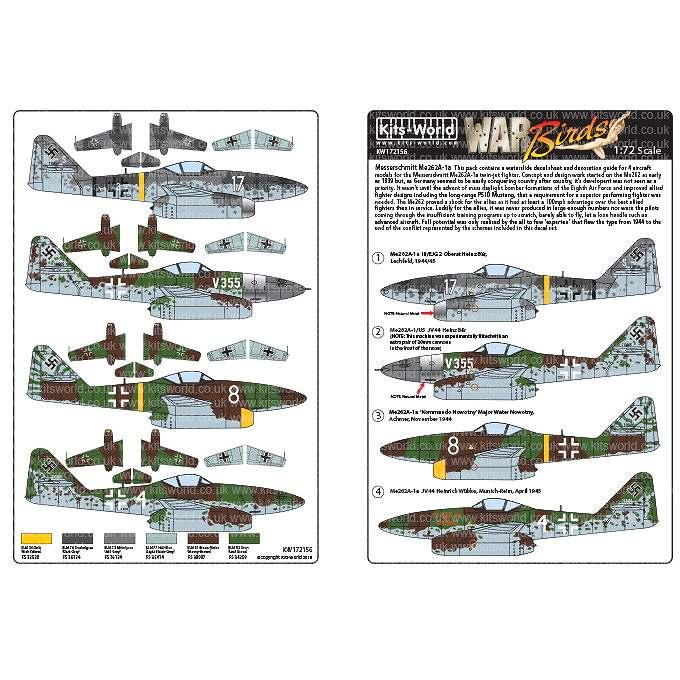 【新製品】KW72156 メッサーシュミット Me262A-1a